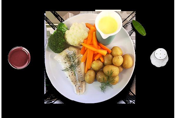 Restaurant i Holbæk - Fisk med grøntsager og kartofler